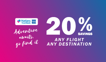20% SAVINGS ON FLIGHT BOOKINGS