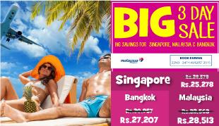 15% OFF on Flights to Bangkok, Kuala Lumpur & Singapore!