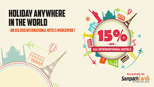 15% Off on all International Hotels!
