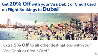 20% Off to Dubai with Visa Cards!