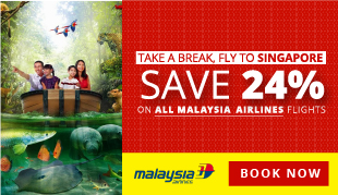 24 Hour Flash Sale, 24% OFF on all Flights to Singapore