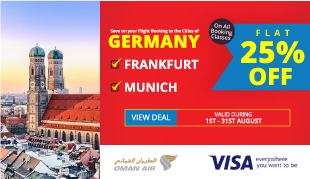 25% Off on Flights to Germany on Oman Air!