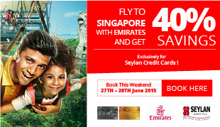 40% Off on Emirates flights to Singapore!