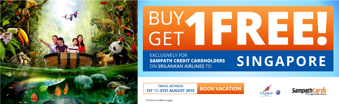 Buy 01 Get 01 Free Air Ticket to Singapore