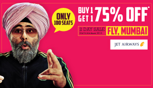 Buy 1 and Get 1 75% Off to Mumbai