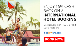 15% Cash Back | International Hotel Booking  | FindMyFare