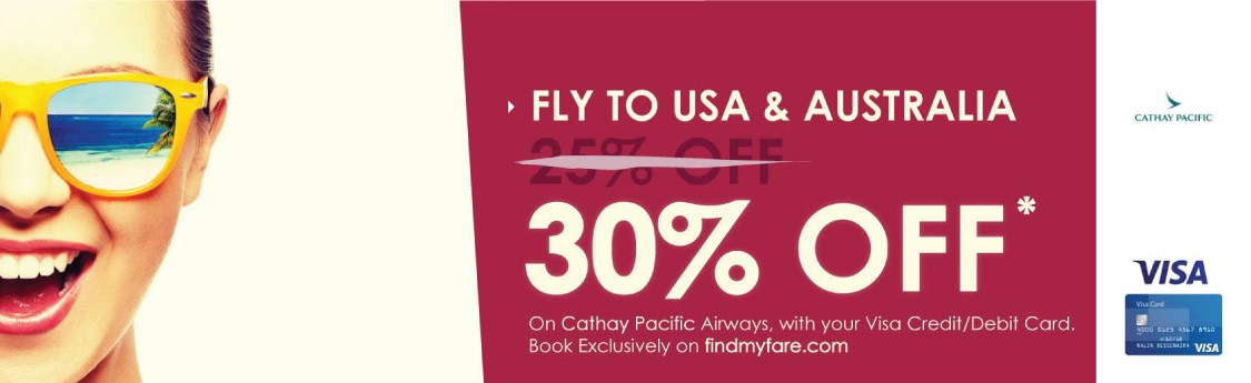 Cathay Pacific Flight offers to Australia and USA
