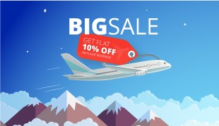 Flat 10% Off Flight Bookings | Web Discount