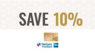 NTB 10% Savings on 5 Packages