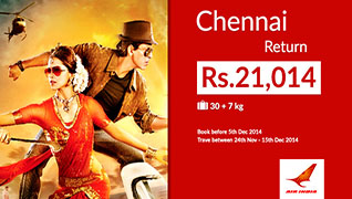 Fly to Chennai for Just Rs. 21,014