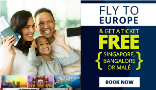 Fly to EUROPE on SriLankan Airlines and get a FREE ticket!