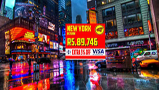 Fly to New York for Just Rs.89,746/-
