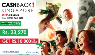 Fly to Singapore and get Cash Back!!!