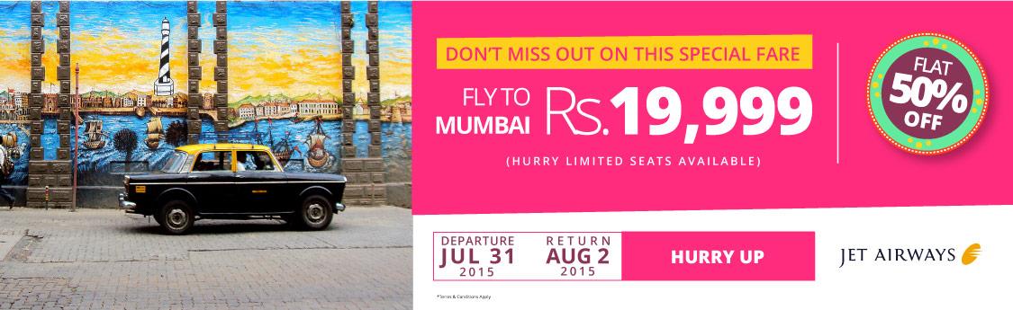 Mumbay Jet Airways Flash Sale