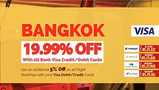 Save 19.99% on Flight booking to Bangkok!