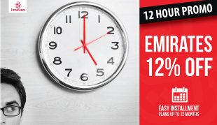 Up to 12% OFF on Emirates Flights to any Destination!