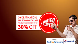 Upto 25% off on Malaysia Airlines Flights!