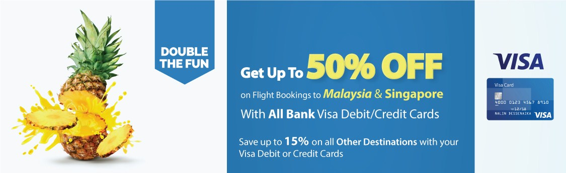 Visa card offer on flights to Singapore and Malaysia