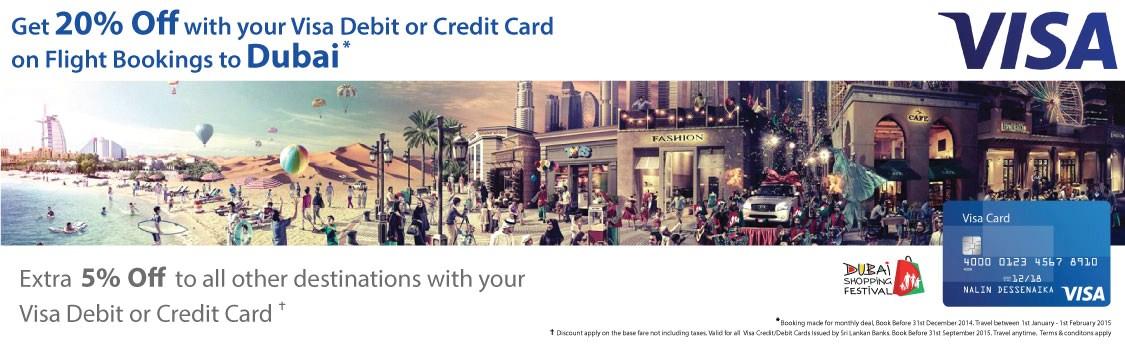 Visa promotion to Dubai 20% off
