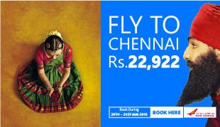 Weekend SALE! 12% OFF to Chennai In Air India