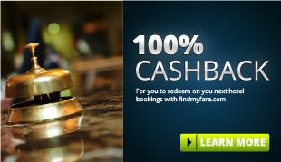 100% Cashback on Hotels