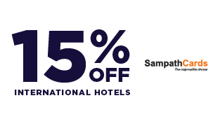 15% OFF on All International Hotels