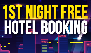 1st Night Free on Hotel Booking