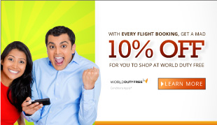 Enjoy 10% Off on World Duty Free!