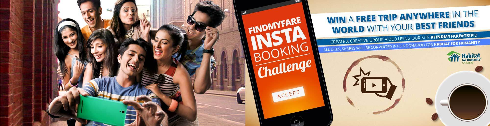 Findmyfare Insta Booking Challenge!