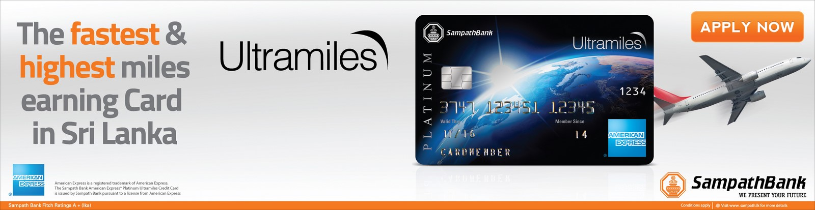 Sampath Bank Platinum Ultramiles Credit Card