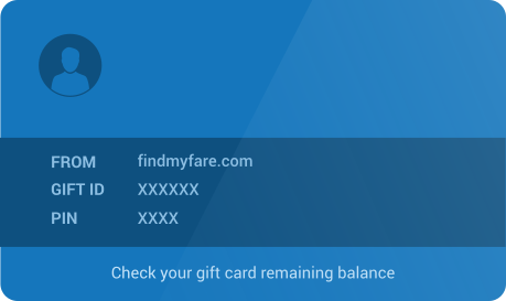 Send a Gift card to your loved ones from with Findmyfare